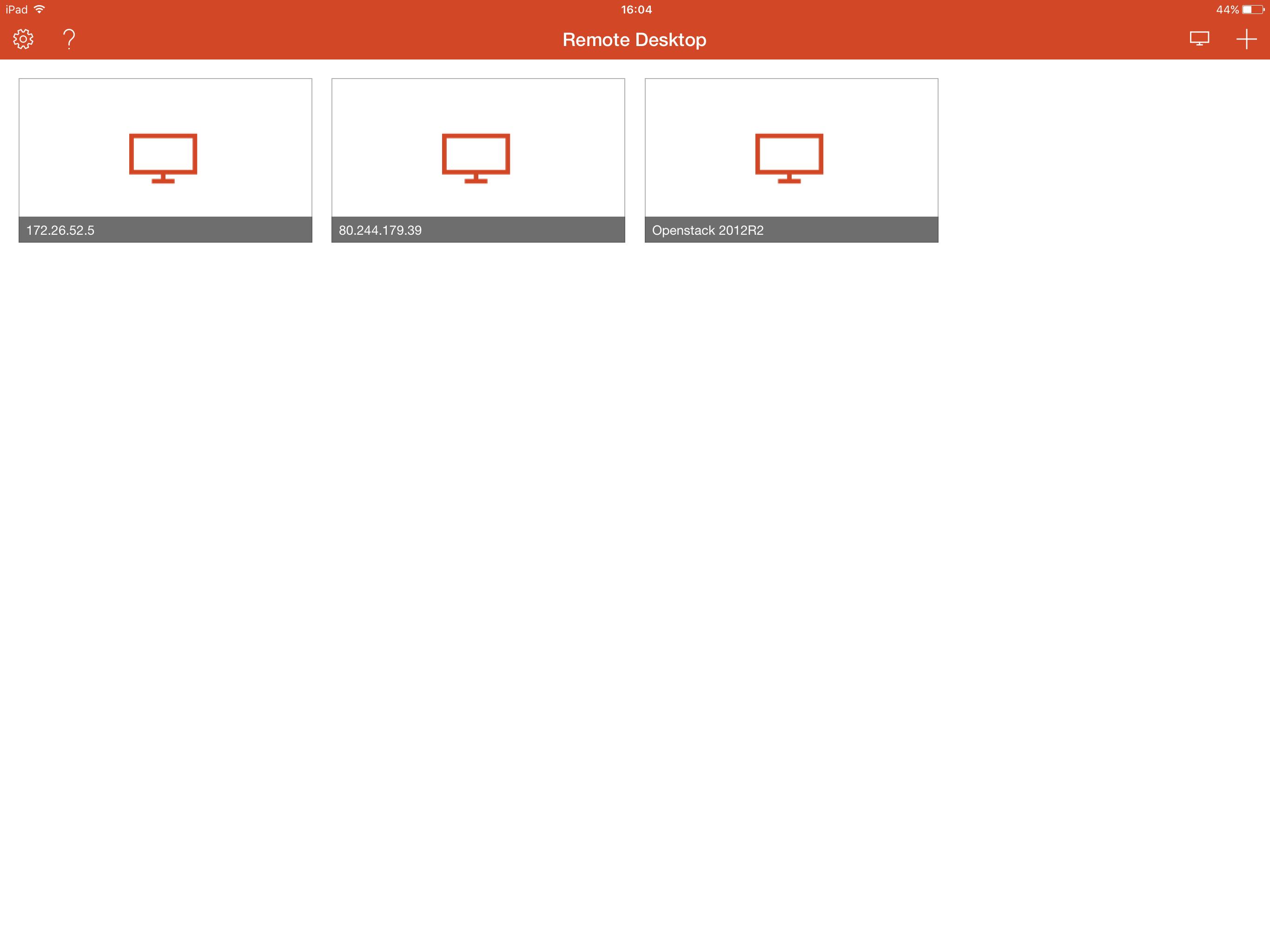 Connecting to a server via Remote Desktop