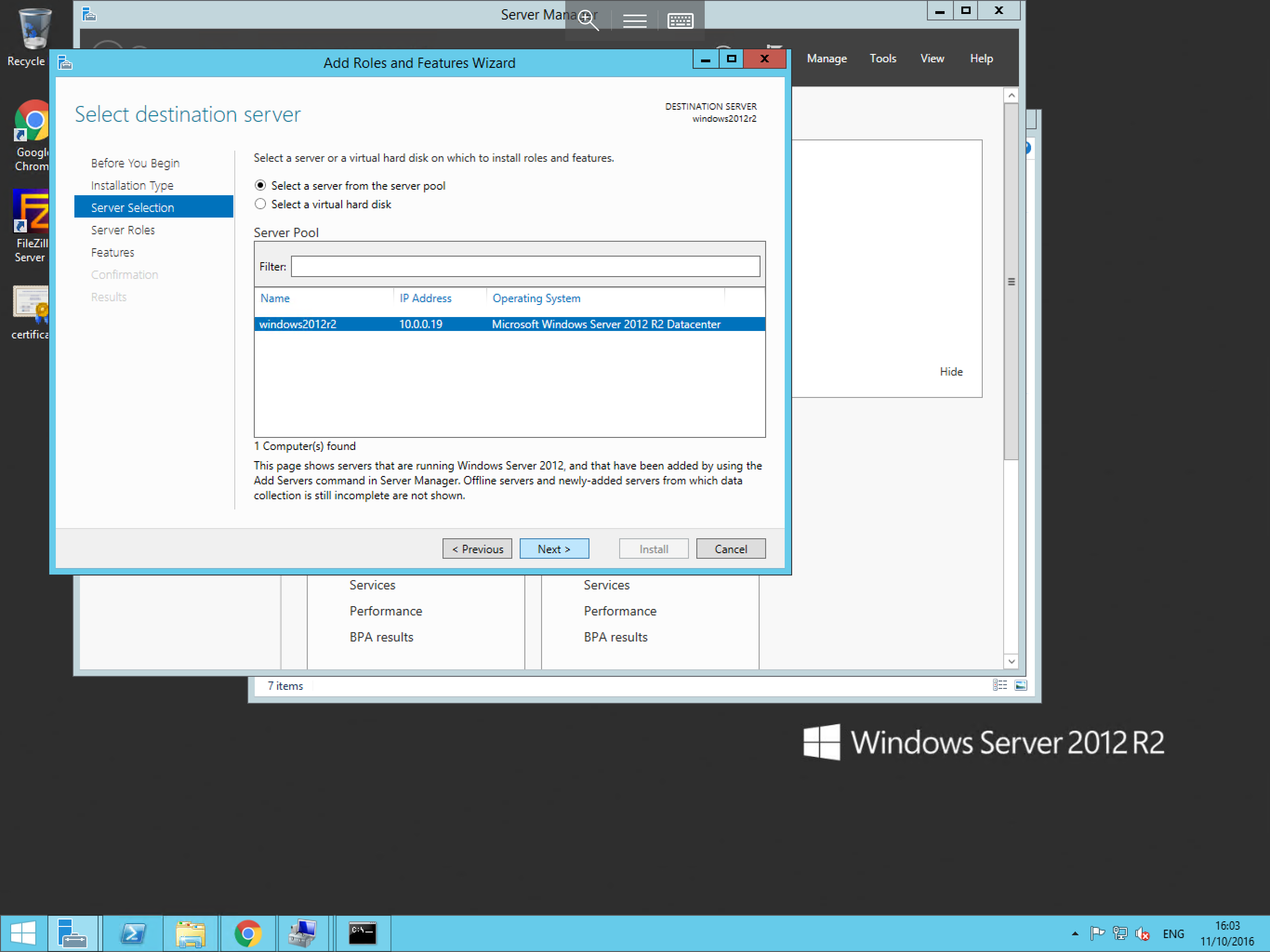 Installing Roles/Features on Windows Server